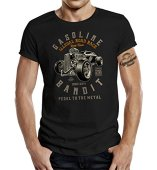 GASOLINE BANDIT® - Camiseta - Manga Corta - para Hombre Negro XL