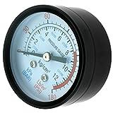 Compresseur d'air Filtre 0-180 PSI 1/4' BSP Manomètre de pression d'air 50...