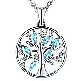 JO WISDOM collier pendentif arbre de vie Yggdrasil argent 925 femme AAA...