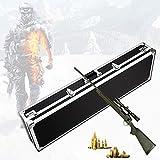 TBDLG Maletin Rigido Rifle, Maletin para Pistola con Protección de Esponja, Aleación de Aluminio y Material ABS, Caja de Almacenamiento para Lanza, Caña de Pescar (54,9 X 15,6 Pulgadas),140CM