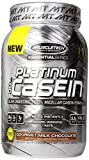 MuscleTech Platinum 100% Casein, Slow-Digesting 100% Milcellar Casein Formula, Gourment Milk Chocolate, 1.82 lbs (824g)