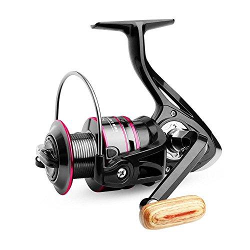 AOLVO Mulinello Pesca Professionale Mulinello Pesca Spinning con 12 Cuscinetti a Sfera Scambio di Mano Sinistra e Mano Destra 4.7:1 HB6000