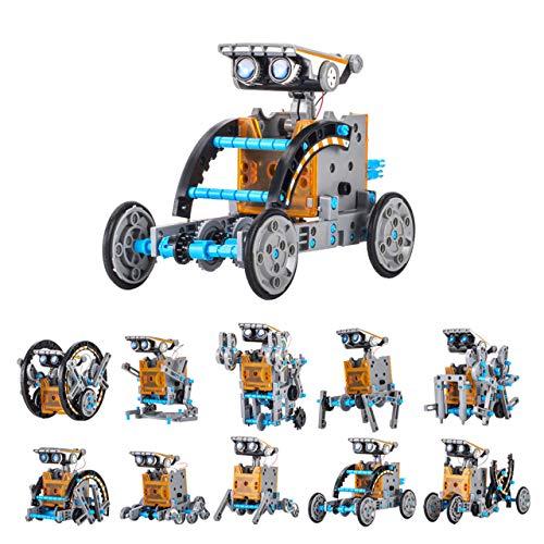 KwuLee Kit de Robot Solar 12-en-1 Kit de Robots de Bricolaje...
