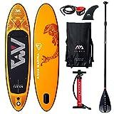 AQUA-MARINA Stand up Paddle Gonflable Sup AQUAMARINA Fusion 2019 Pack Complet 315x76x15cm Unisex Adult, Orange, 3157615 10'4'x30''x6''