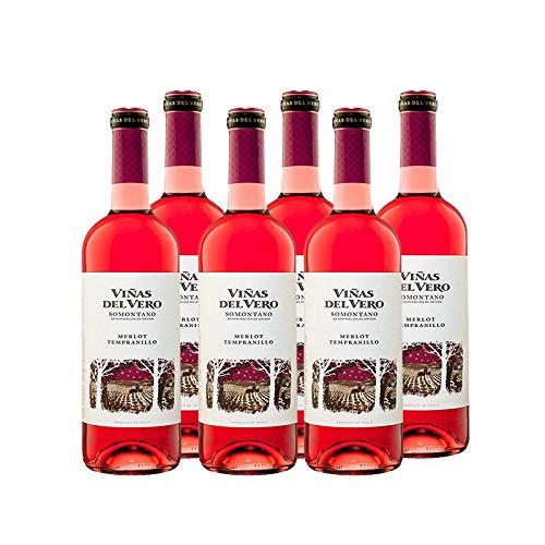 Vino rosado Viñas del Vero de 75 cl - D.O. Somontano - Bodegas Gonzalez Byass (Pack de 6 botellas)