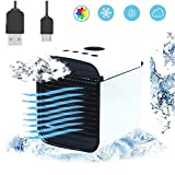 3 in 1 USB Portable Mini Air Conditioner,Air Conditioner – Mini Air Cooler – Personal Cooling Fan- Humidifier, Purifier (White)