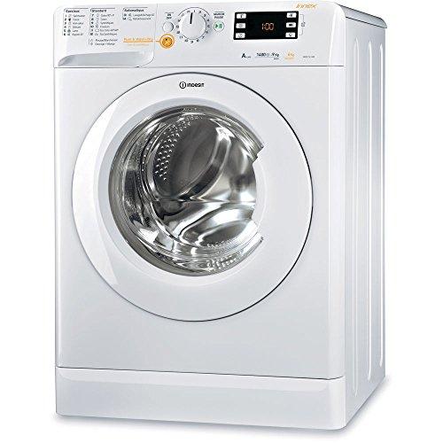 Lave linge sechant Hublot Indesit XWDE961480XWFR - Lave linge Frontal séchant - Pose libre - capacité : 9 Kg - Vitesse d'essorage maxi 1400 tr/min - Classe A