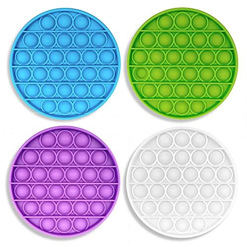 Push-N-Pop Bubble Sensory Fidget Toy 4 Pack for Stress...