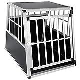 EUGAD Trasportino per Animali Cuccia per Cane da Esterno Box da Cani per Auto in Alluminio Trapezoidale Nero 0046HT
