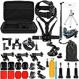 SHOOT Accessories Pack 45 en 1 Kit Selfie Bâto,Étui de Transport pour GoPro...