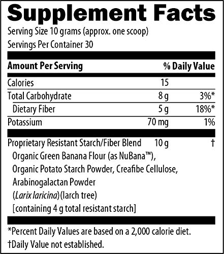 Dr. Christianson RS Complete - Resistant Starch Powder with Organic Green Banana Flour - Non-GMO + Dairy-Free Fiber Powder Supplement - The Metabolism Reset Diet (30 Servings / 300g) 3