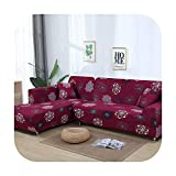 VACHE L Shaped Sofa Cover Elastic Blue Sofa Covers for Living Room Couch Cover Sofa Slipcovers for Armchairs 1 4 Seater-Color 7-1Seater and 1Seater