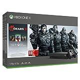 Console Xbox One X 1To Manette sans fil Xbox One Téléchargement complet du jeu Gears 5 Téléchargement complet des jeux Gears of War : Ultimate Edition et Gears of War 2, 3 et 4 1 Mois Xbox Live Gold 1 Mois Xbox Game Câble HDMI Piles LR6