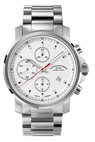 Mühle Glashütte M1-25-41-MB Armbanduhr, Armband aus Edelstahl