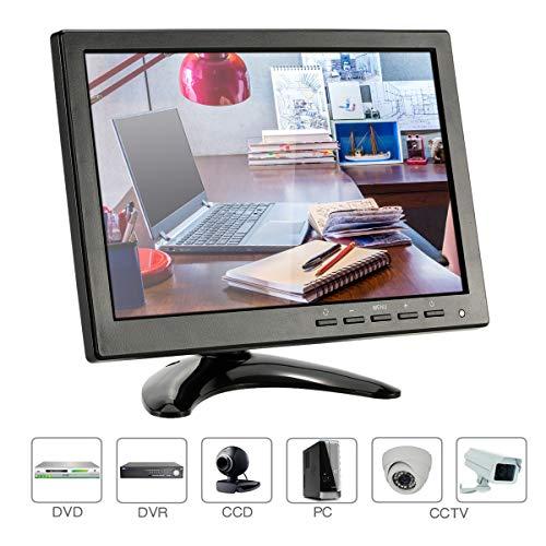 KKmoon, Monitor 10.1 Pollici, Monitor per Videosorveglianza, HD 1280 * 800 Monitor LED IPS con VGA/BNC/AV/USB Ports Supporto 1080P/1080i Altoparlante UDisk Pal/NTSC per Telecamera Sorveglianza
