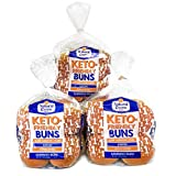 Natural Ovens Bakery Keto-Friendly Buns - 1 Net Carb, 90 Calories a Bun (Case of 3 Packages, 24 buns)