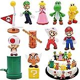 Super Mario Figures, 12 pcs/Set Super Mario Tarta Decoración, Super Mario Figuras Decoración,...