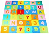 BalanceFrom Kid's Puzzle Exercise Play Mat with EVA Foam Interlocking Tiles, Alphabet (36 Tiles)