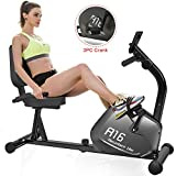 SNODE Magnetic Recumbent Exercise Bike with 8 Levels Resistance, Indoor Cardio Training Workout with 300Lbs Weight Capacity for Home Fitness (Model:R16 2020 New)