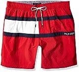 Tommy Hilfiger Men's 7' Swim Trunks, RED, MD