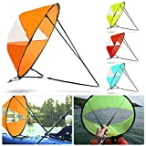 42' Portable PVC Downwind Wind Paddle Instant Popup Board Sail Kayak Accessories PVC Folding Portable for Kayaks Canoes Inflatables Tandems Expedition Boats Easy Setup Deploys Quickly Compact (Blue)