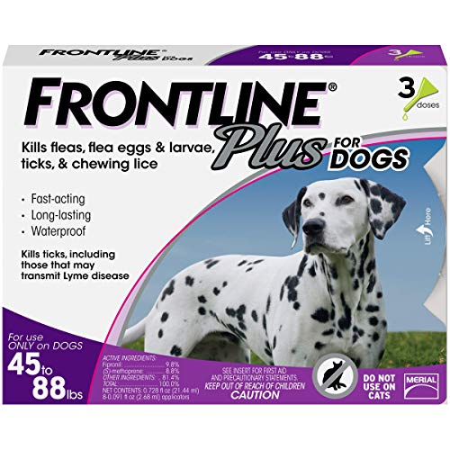 Frontline Plus for Dogs Large Dog (45 to 88 pounds) Flea and...