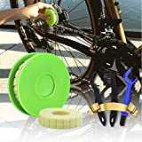 Walife Bike Chain Oiler Roller Lubricatorm, Bike Chain Cleaning Brush Tool, Bicycle Cleaner Care Tool Kit for Mountain, Road, Park, City, Hybrid,BMX Bike and Motorcycle(5 Pcs)