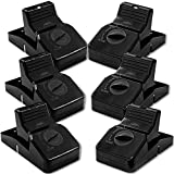 Pest Control Rat Traps & Mouse Traps for Instant Kill Results, Set of 6 Large Reusable Snap Traps for Mice Chipmunks 'N Squirrels, Humane Mousetraps for The House