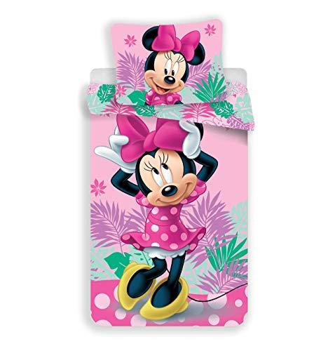 Disney Minnie - Parure da letto, 2 pezzi, copripiumino 140 x 200 cm + federa 70 x 90 cm