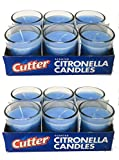 Cutter Citronella Candles Set (12-Pack) Natural Insect Repellent Off   Blue, Scented   Deters Bugs, Flying Insects, Mosquitos   Child and Pet Safe, Cruelty Free   Patio, Backyard, Outdoor Use