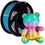 PLA 3D Printer Filament 1.75mm Rainbow 3D Print Material Printing Filaments Color Changing Pla Spool Multicolor Filaments 1KG(2.2lbs) for FDM Printer XVICO