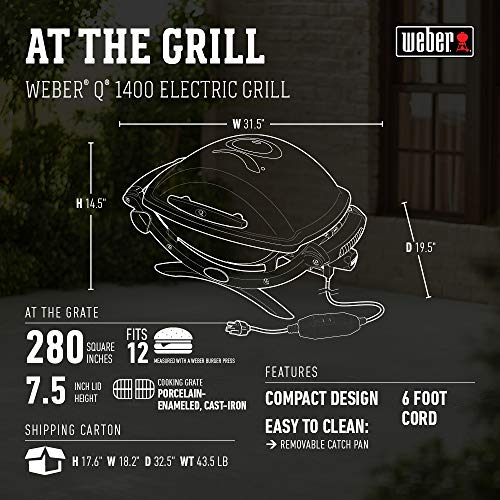 Product Image 2: Weber 55020001 Q 2400 Electric Grill , grey