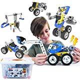 Motorized STEM Toys For 7 8 9 10 Year Old Boys & Girls, 10 in 1 Building Blocks Multilevel Challenges Toys For Kids, Educational Construction Learning Toys, 3d Puzzles, Ideal Christmas Birthday Gift