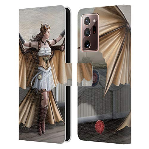 Head Case Designs Officially Licensed Anne Stokes Aviator Steampunk Leather Book Wallet Case Cover Compatible With Galaxy Note20 Ultra / 5G (Electronics)