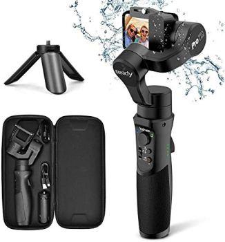 Gopro Gimbal - Stabilisateur Sport Caméra Action avec 3 Axe Gimbal Portable, Support Max 150g, Résistant à l'Eau, Compatible avec Gopro Hero 7/6/5/4/3, Xiaomi, Yi Cam 4K, AEE, SJCAM, Sony RX0