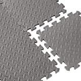 CAP Barbell 12-Piece EVA Foam Equipment Mat , black