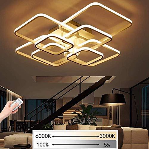 LED Dimmable Plafonnier Lampe De Salon Avec Télécommande Plafonnier Moderne Minimaliste Créatif Métal Acrylique Design Plafonnier Illumination Chambre Bureau Hall Décoration (Taille : 8-Lampen)