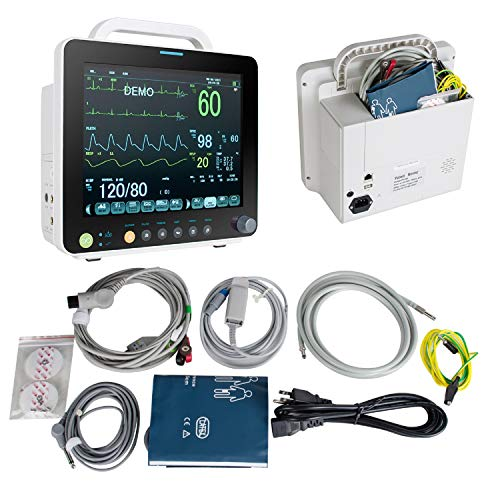 Fencia Vital Sign Patient Monitor-Portable Multi-Parameter 12 Inch