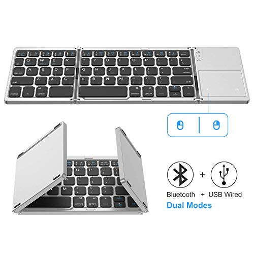 Foldable Bluetooth Keyboard, Jelly Comb Dual Mode...