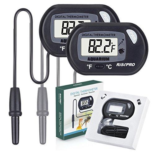 RISEPRO Aquarium Thermometer, Digital Water Thermometer for Fish Tanks