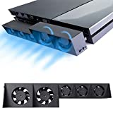 PS4 Turbo Cooling Fan – ElecGear External USB Cooler with Auto Temperature Controlled Radiator for Sony Playstation 4 Console