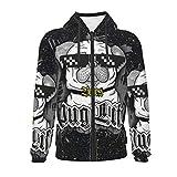 Unisex Top Pug Life Full-Zip Hoodies Youth Sweatshirt Funny 3D Printed Hoodie for Boys/Girls 7-8 Years