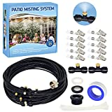 Misting Cooling System, 32.8FT Patio Misting System, Patio Misters for Cooling, Outdoor Misters for Patio Umbrella Greenhouse Pool Trampoline