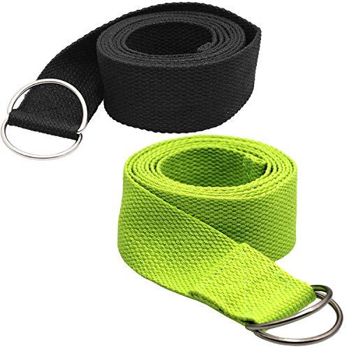 Tavie 2X Correa De Cinturón De Yoga para Ejercicio Físico Flexibilidad Ejercicio...
