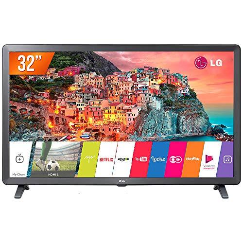 Smart TV LED 32' LG, 32LK615BPSB, HDR Ativo Upscaler HD webOS 4.0 Virtual Surround Plus