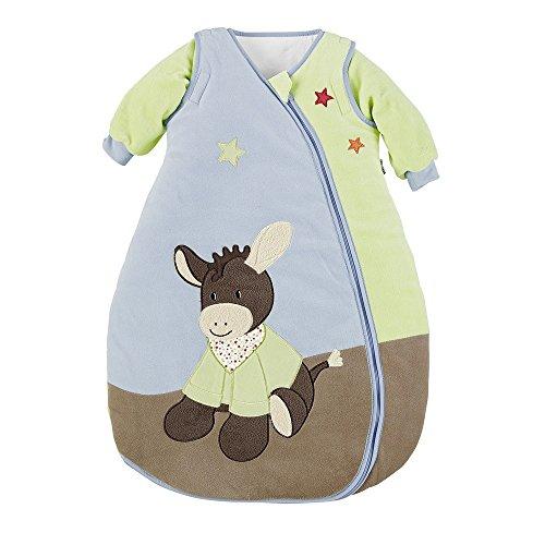 Sterntaler Schlafsack für Kleinkinder, Abnehmbare Ärmel, Wärmeregulierung, Reißverschluss, Größe: 90, Emmi, Bunt