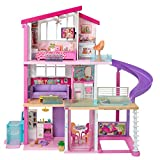 Barbie Dreamhouse Dollhouse with Wheelchair Accessible Elevator, Pool, Slide and 70 Accessories...