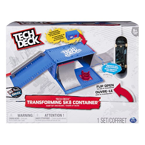 TECH DECK, Transforming SK8 Container Pro Modular Skatepark and Board, for Ages 6 and Up (Edition May Vary), Multicolor