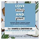 Love Beauty And Planet Volume and Bounty 2 in 1 Shampoo and Conditioner Bar for Thinning Hair Coconut Water & Mimosa Flower Body and Strength 4.0 oz