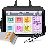 FACILOTAB Pack L Rubis 10,1' 64 Go Gris WiFi 4G - Tablette simplifiée pour...
